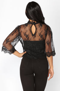 Diaz Lace Top - Black