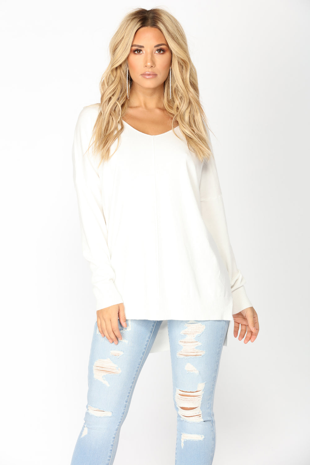 Love It Or Leave It Sweater - Off White