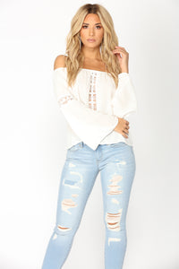 Elaina Off Shoulder Top - Off White