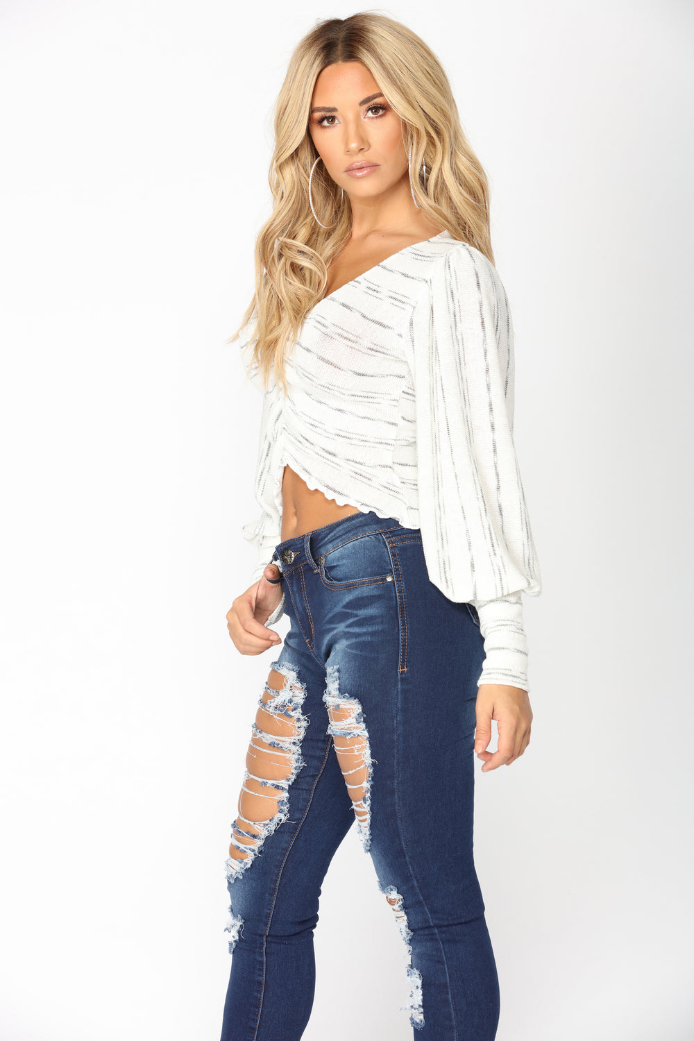 The Best Of Me Striped Top - Ivory