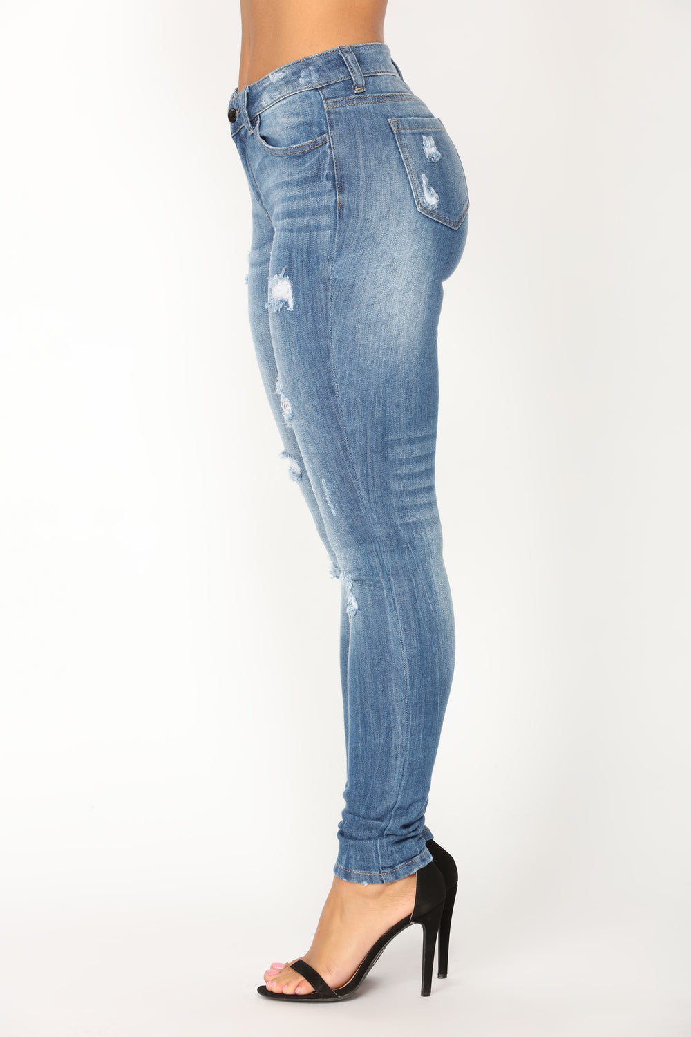 Pon De Replay Skinny Jeans - Medium Blue Wash