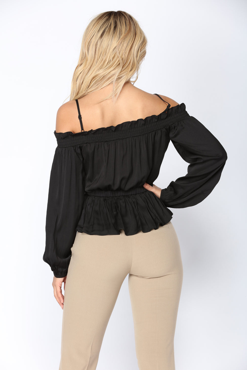Gabrielle Off The Shoulder Top - Black