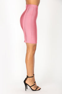 Vespertine Bandage Skirt Set - Dark Mauve