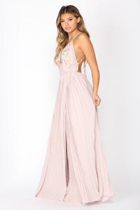 Del Amo Embroider Dress - Rose