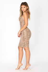 Karolina Midi Dress - Tan