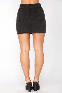 East Hampton Denim Skirt - Black