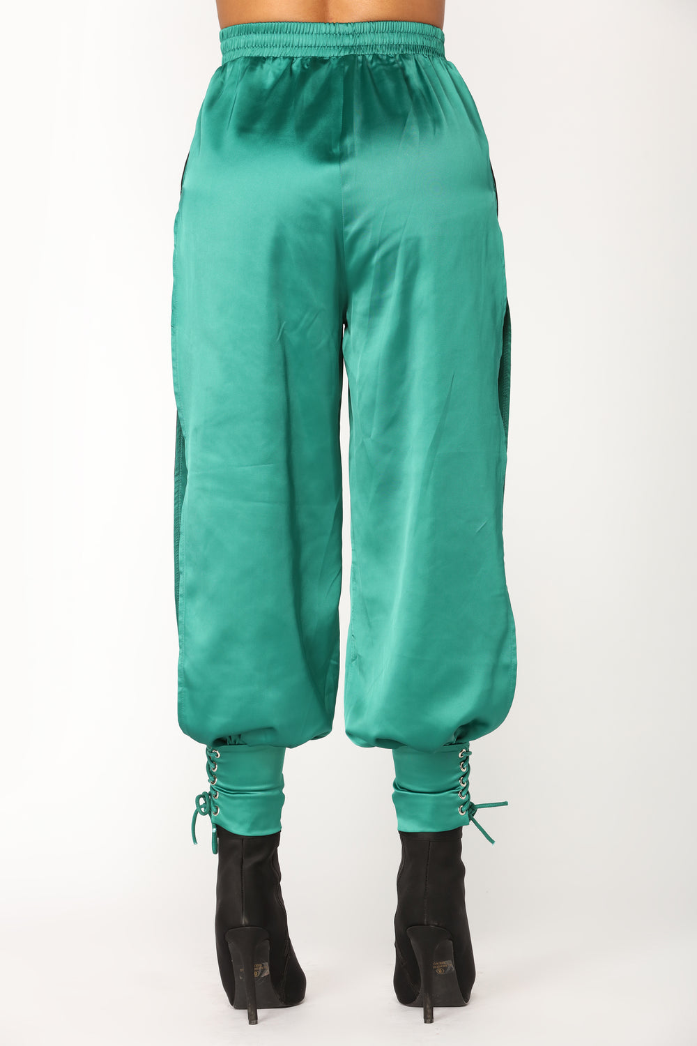 Smooth To The Touch Satin Jogger - Hunter Green