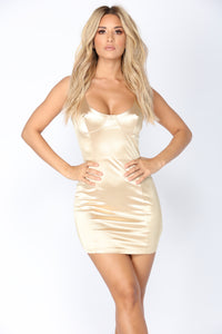 Marcellette Dress - Gold