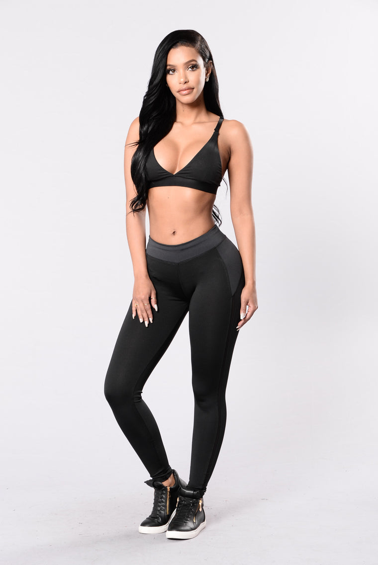 Head In The Game Leggings - Black