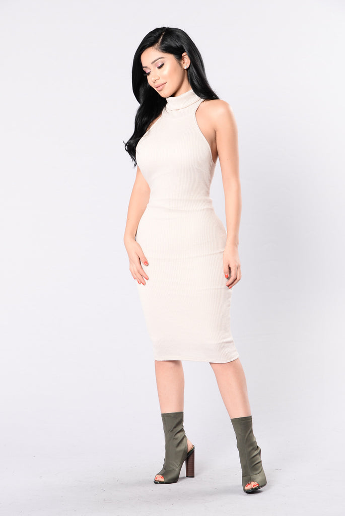 Party Up Dress - Taupe