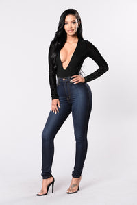 Party With Me Bodysuit - Black