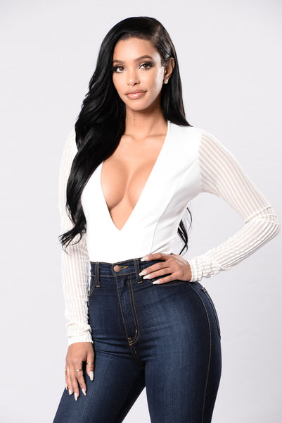 Party With Me Bodysuit - Ivory