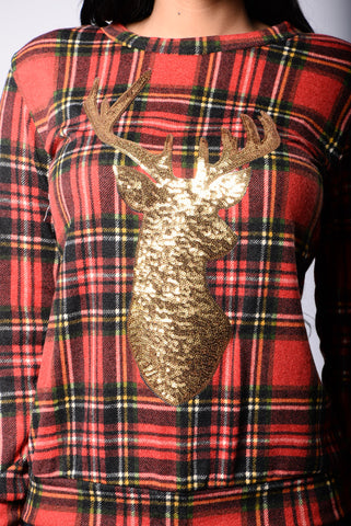 Tis The Season To Sparkle Holiday Sweater - Red