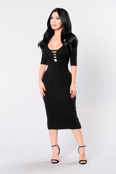 Calm Cool And Collected Dress - Black