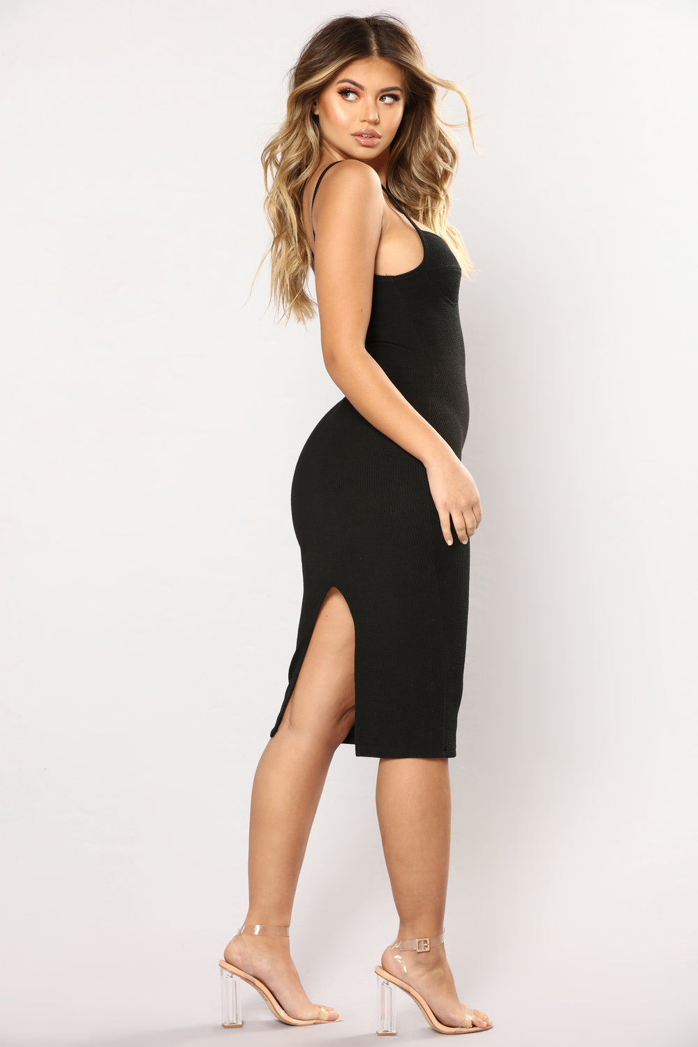 Juniper Tubular Midi Dress - Black