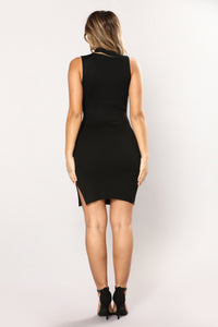 Nyla Knit Dress - Black