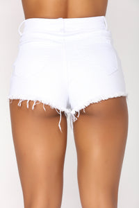 Are You That Somebody Denim Shorts - White