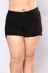Live The Fantasy Denim Shorts - Black Angle 8