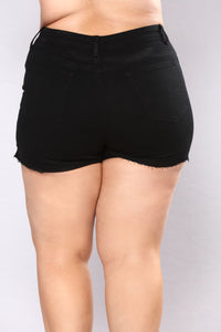 Live The Fantasy Denim Shorts - Black Angle 12