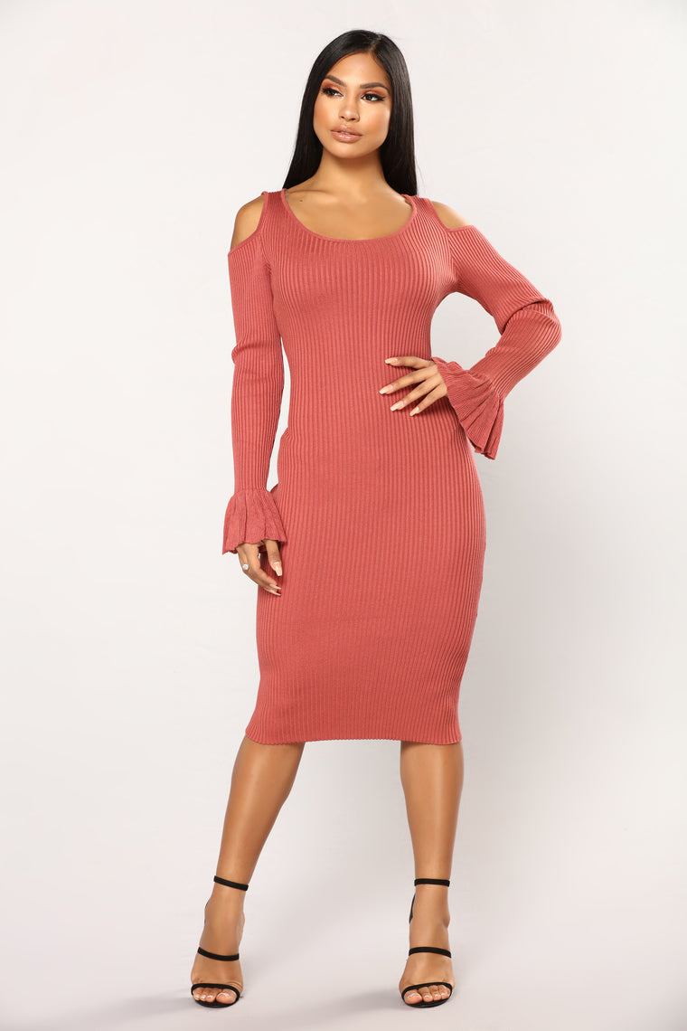 Rachelle Knit Dress - Marsala