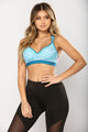 Knockout Bra Cup Sports Bra - Blue/Navy
