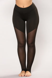 Jog With Me Active Leggings - Black