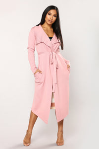 Tania Sweater Cardigan - Blush