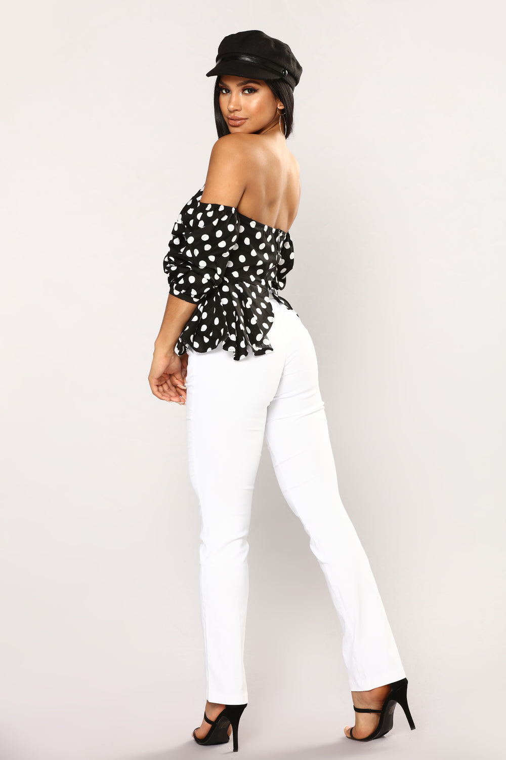 Priscille Top - Black/White