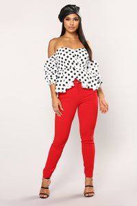 Priscille Top - White/Black