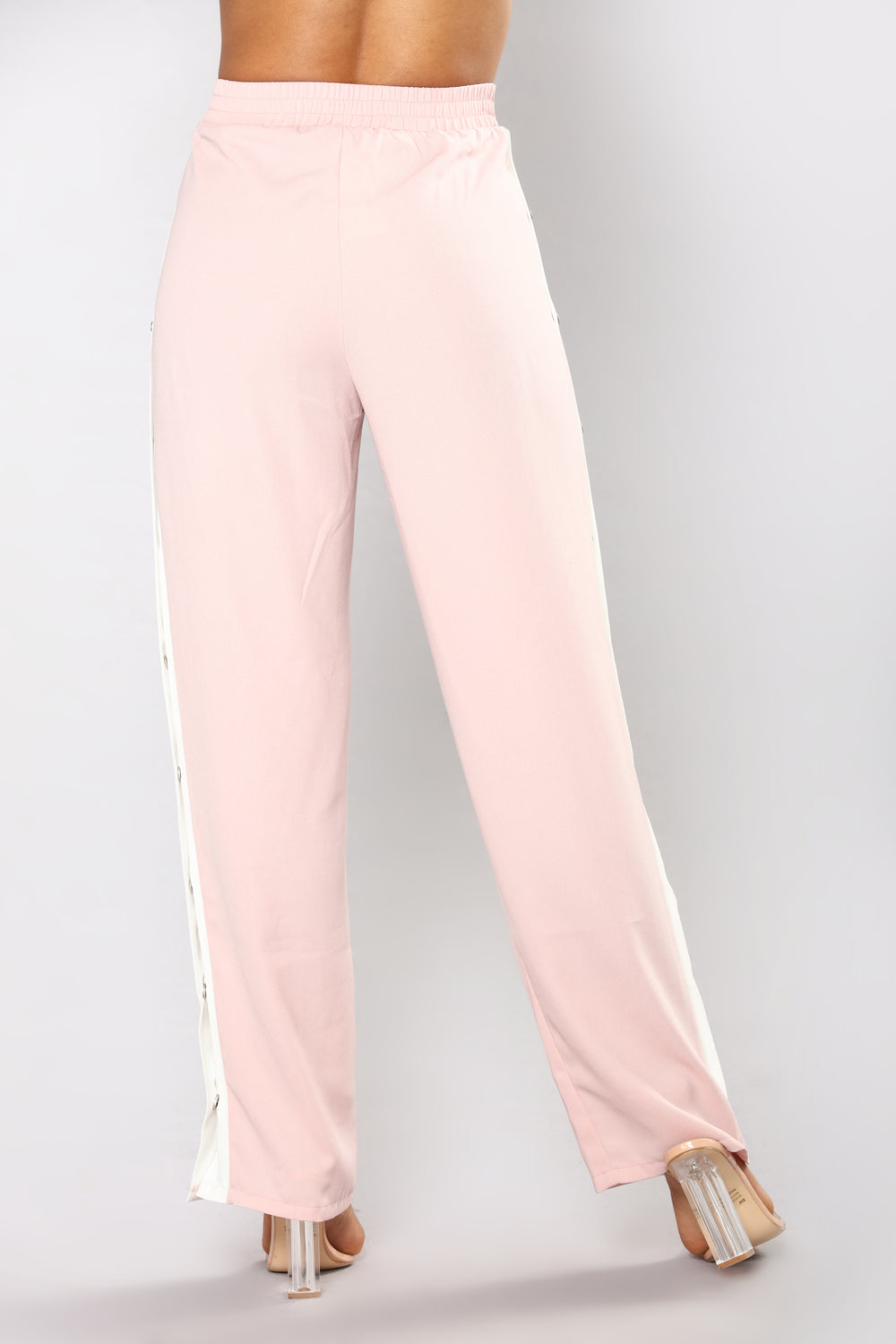 Simple Rules Snap Pants - Pink