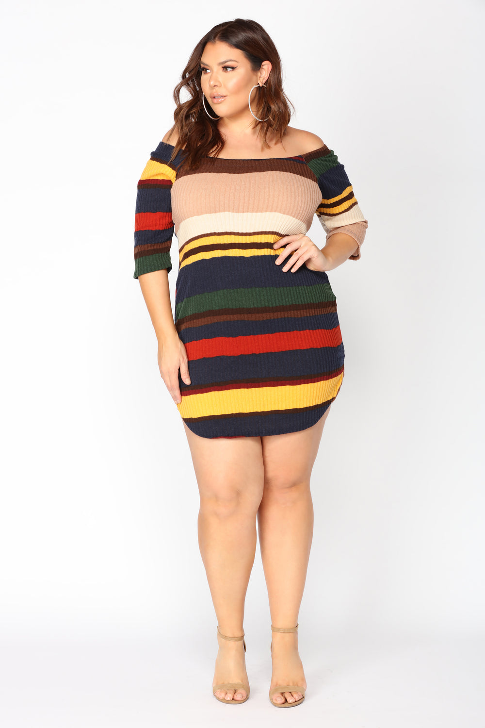 You Make Lovin' Fun Dress - Navy/Mustard