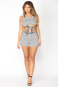 Corinna Matching Set - White/Black