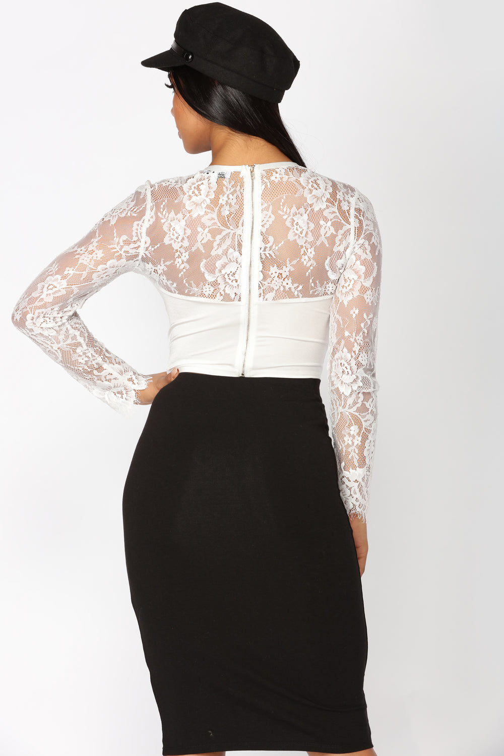 Embrace The Lace Top - White