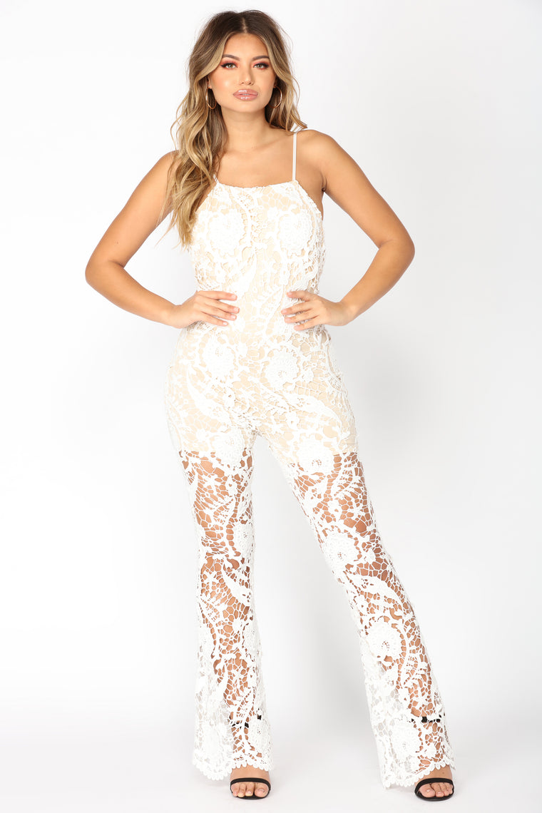 Glass Of Wine Jumpsuit - White