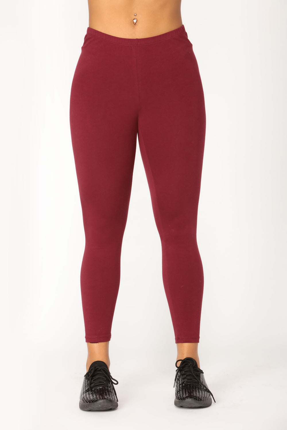 Almost Daily Layering Leggings - Burgundy
