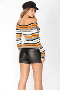 So Trill Striped Sweater - Mustard/combo Angle 4