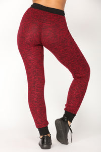 Chilling Lounge Jogger - Burgundy