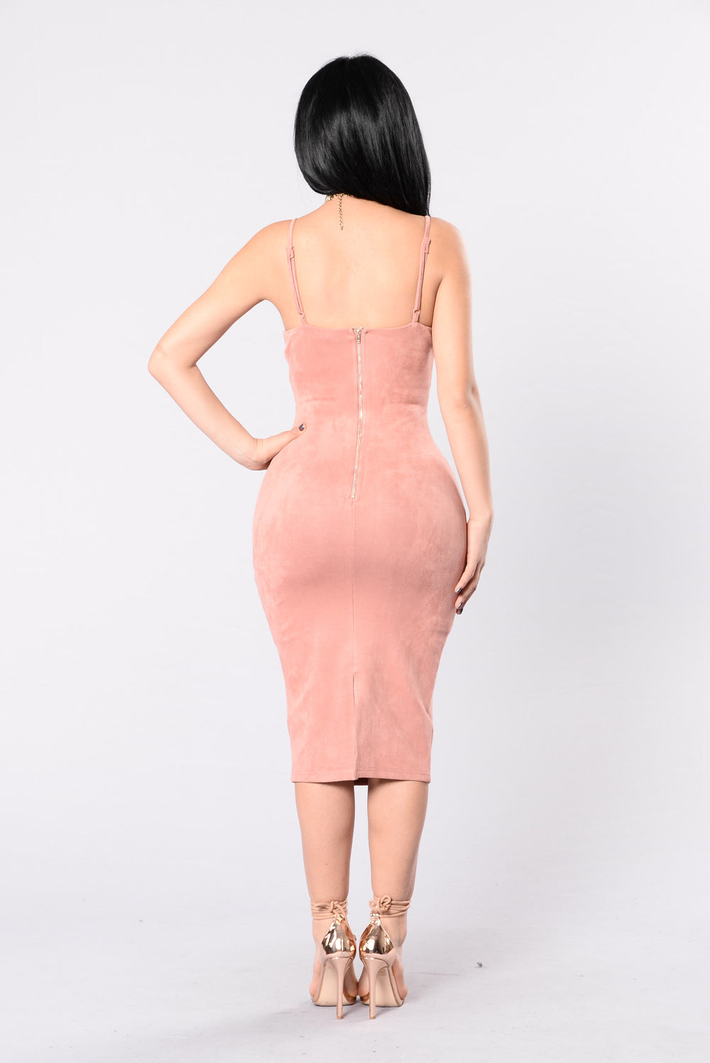 Spark The Fire Dress - Mauve