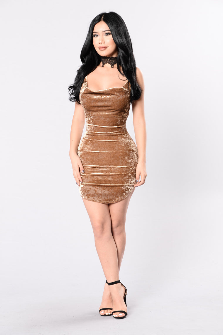 Uptown Girl Dress - Gold