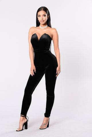Poetic Lies Jumpsuit - Black
