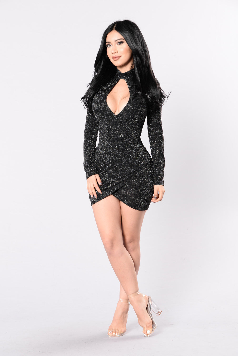 Dark Paradise Dress - Black/Silver