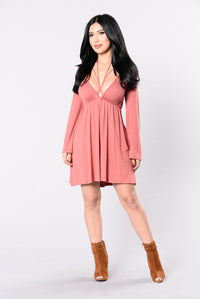 Rather Die Young Dress - Marsala Angle 1
