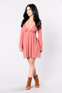 Rather Die Young Dress - Marsala Angle 3