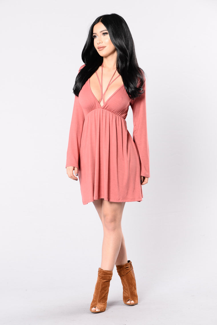 Rather Die Young Dress - Marsala