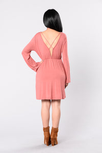 Rather Die Young Dress - Marsala Angle 2