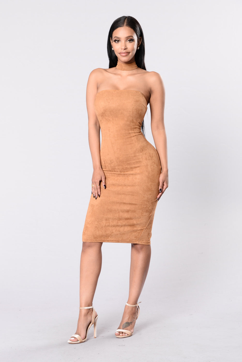 Case Closed Dress - Camel