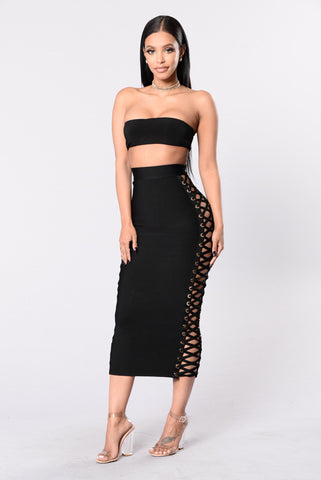 Marseille Bandage Skirt - Black