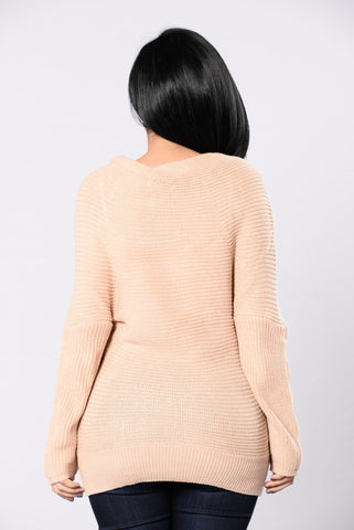 Bundle Me Up Sweater - Taupe