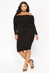 Not The Same Midi Dress - Black