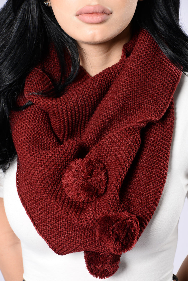 3rd Time's The Charm Infinity Scarf - Burgundy